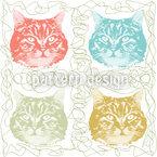 Katze Minka Liebt Wolle Designmuster