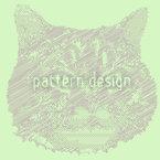 Katzen Erinnerung Nahtloses Vektor Muster