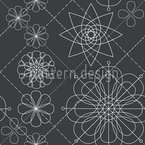 Flower Construction Vector Pattern