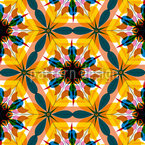 Kaleidoscope Extreme Colors Seamless Vector Pattern Design