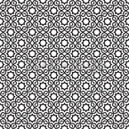 Islamic Black And White Seamless Vector Pattern Design