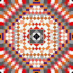 Kelim Quadrate Muster Design
