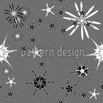 Skandiflor Grey Seamless Vector Pattern Design