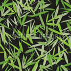 Bamboori Schwarz Nahtloses Vektormuster