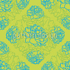 Rose Dream In Limegreen Seamless Vector Pattern