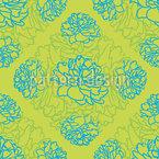 Rosen Träumen Auf Limettengrün Nahtloses Vektor Muster