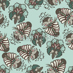 Lush Flora Baltic Seamless Vector Pattern Design