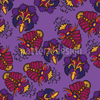 Lush Flora Royal Seamless Vector Pattern Design