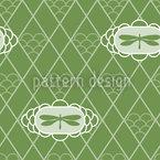 Libellen Verde Vektor Ornament