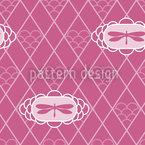 Libélulas Malva Design de padrão vetorial sem costura