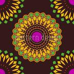 Hypnotische Blumen Vektor Design