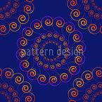 渦巻いた青 シームレスなベクトルパターン設計