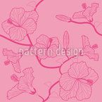 Hibiscusdream Pastel Estampado Vectorial Sin Costura