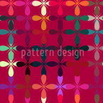 Abstraktes Blumenbeet Designmuster
