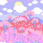 Regenbogen Wunderland Rosarot Nahtloses Vektormuster