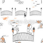 Kitten Bridge In London Vector Design