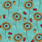 Boheme Fantasy Flowers Mint Repeating Pattern