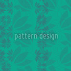 Flower Leaves Mint Repeat Pattern
