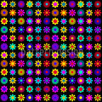 Funky Flora Seamless Vector Pattern Design