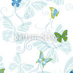 Butterflies On The Waterside Seamless Vector Pattern