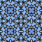 Blue Orient Seamless Vector Pattern Design