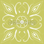 Bandana Mellow Green Seamless Vector Pattern Design