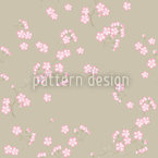 Cherry Blossoms On Sand Seamless Pattern