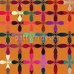 Golden Fantasy Garden Repeating Pattern
