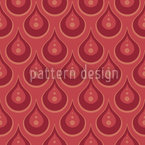 Ruby Rain Seamless Vector Pattern Design