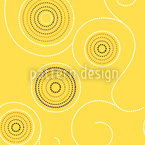 Aborigine Sunny Twirls Seamless Vector Pattern Design