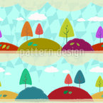 Anny Cecilias Autumn Land Seamless Vector Pattern Design