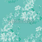 Flora Antique Mint Seamless Vector Pattern Design