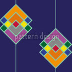 Color Art Deco Estampado Vectorial Sin Costura
