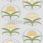 Tender Lilies On Grey Seamless Pattern