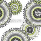 Die Zeitreise Der Blumenmandalas Nahtloses Vektor Muster