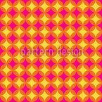 Circular Retro Diamonds Seamless Vector Pattern Design