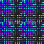 Blue Dot Skyline Seamless Vector Pattern Design