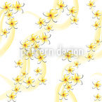 Frangipani Seamless Vector Pattern Design