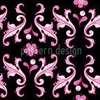 Barocko Folk Pink Nahtloses Muster