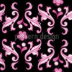Baroquo Folk Pink Seamless Vector Pattern Design