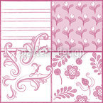 Painted Art Rose Motif Vectoriel Sans Couture