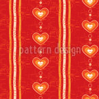 Warm Hearts Vector Pattern