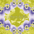 Pansy Crystal Seamless Vector Pattern Design
