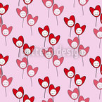 Happy Hearts Seamless Vector Pattern Design