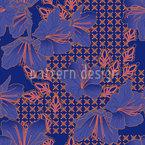Orientalische Blüten Imperial Nahtloses Vektormuster