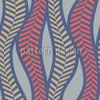 Herringbone Fire Thicket Seamless Vector Pattern Design