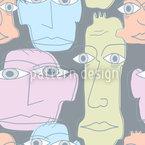 humanitário Design de padrão vetorial sem costura