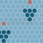 Blue Honey Wine Pattern Design