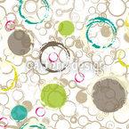 Frühling Zieht Kreise Nahtloses Vektormuster