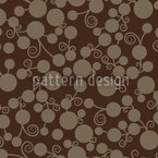 Little Brown Fruits Seamless Vector Pattern Design